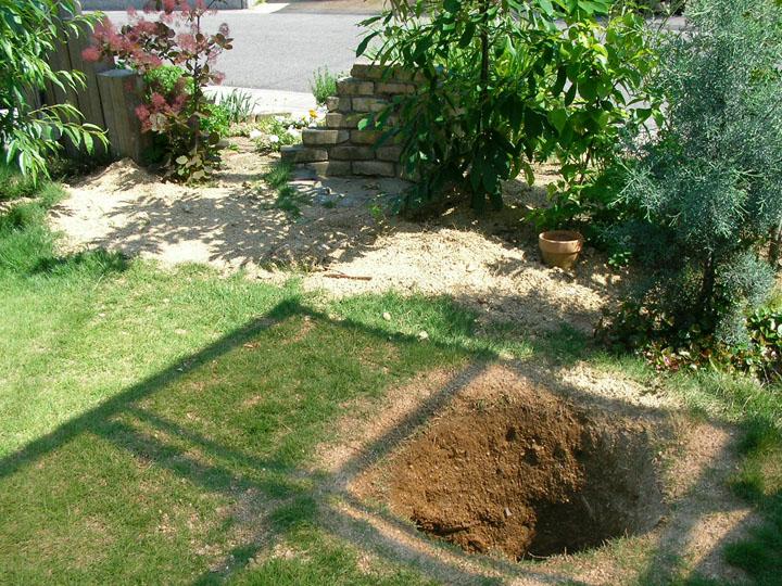 芝刈りと芝生のレイアウト変更9