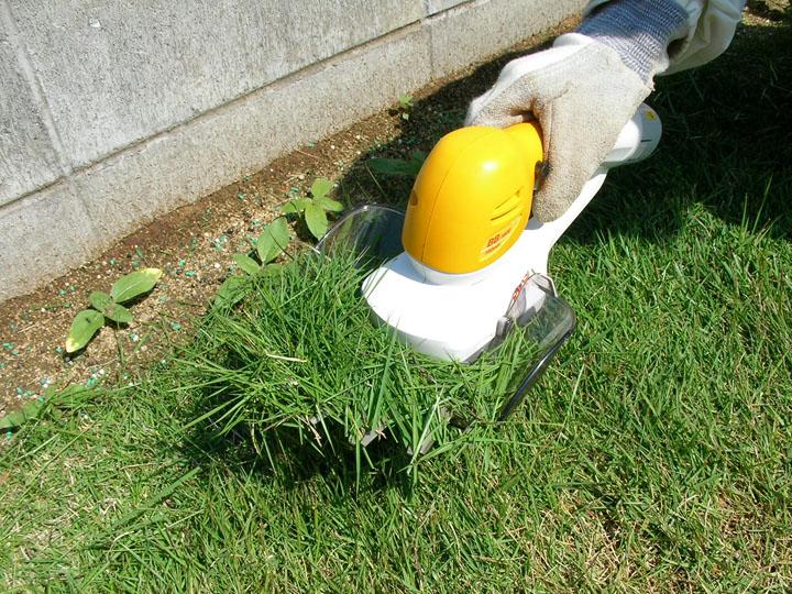 芝刈りと芝生のレイアウト変更3