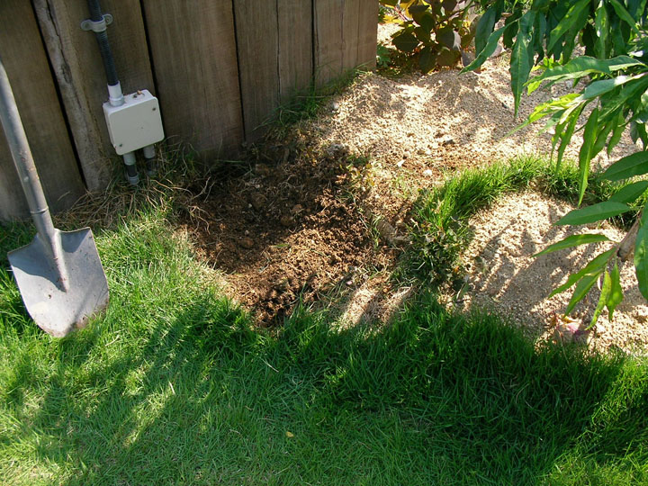 芝刈りと芝生のレイアウト変更12