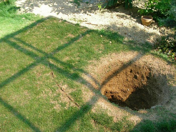 芝刈りと芝生のレイアウト変更11
