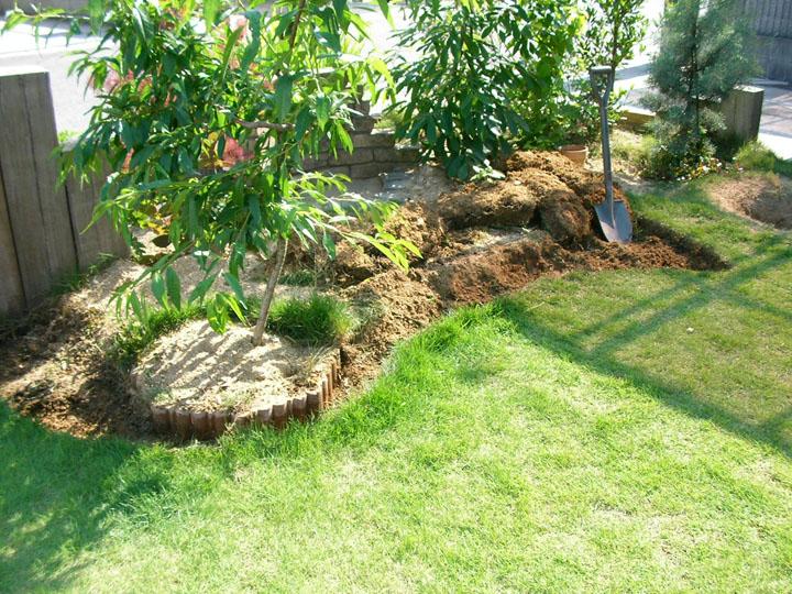 芝刈りと芝生のレイアウト変更15