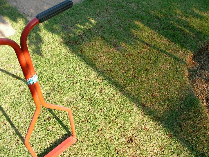 芝刈りと芝生のレイアウト変更23