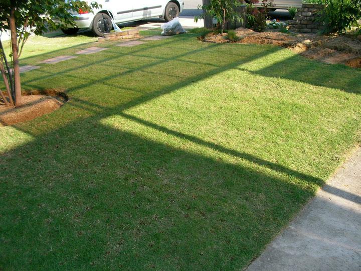 芝刈りと芝生のレイアウト変更24