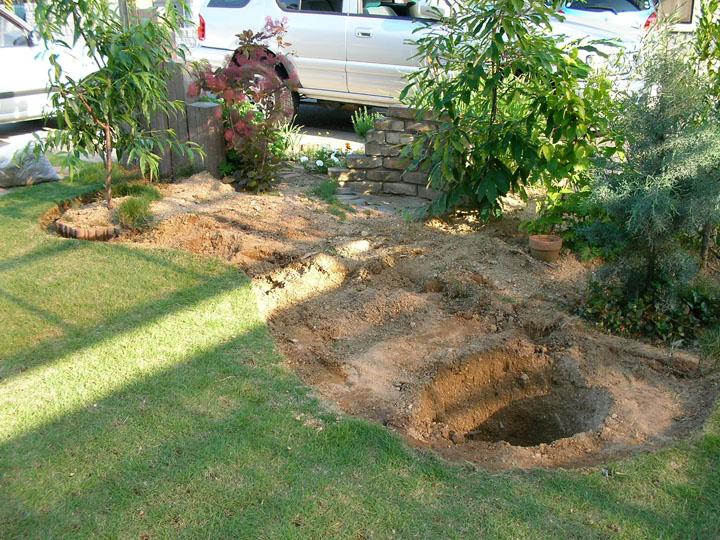 芝刈りと芝生のレイアウト変更22