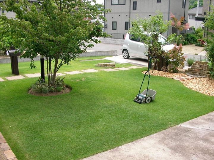 芝刈り風景