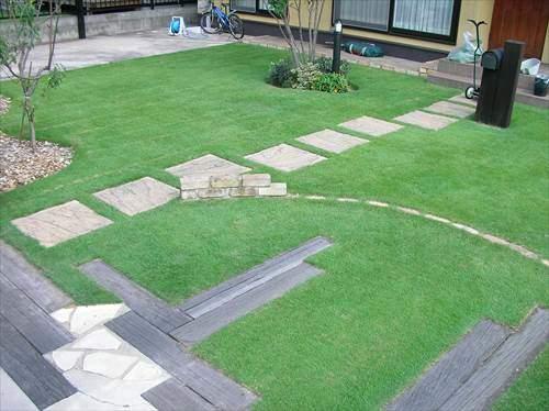 芝生のレイアウトを考える