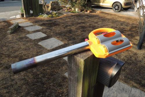 芝焼きに使用したカセットボンベ式バーナー