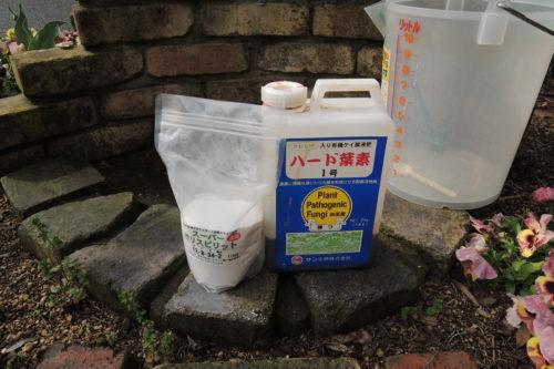 液体肥料のハード葉素1号とスーパー・ポリ・スピリット