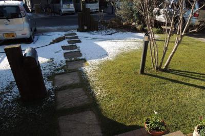 日照で融ける雪