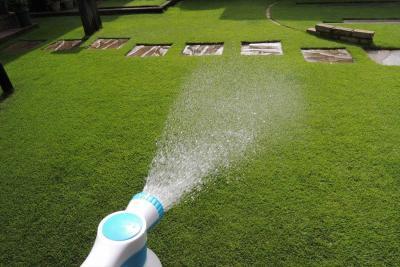 らくらく液体肥料スプレイヤーAQUA+で散布する様子