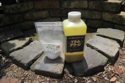 カリ肥料と有機酸資材