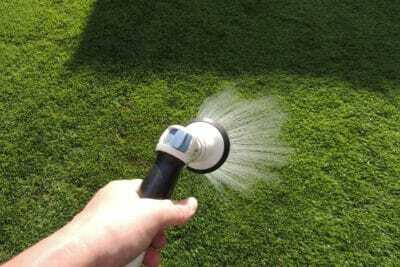 施肥後の散水