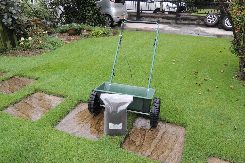 スーパーグリーンフードと肥料散布機